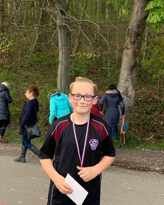 12-year-old-boy smashes donation goal after running 90 miles in April
